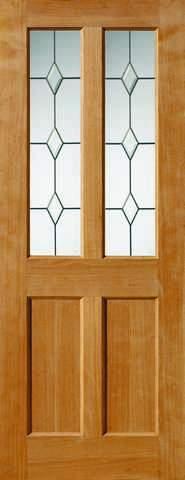 JB Kind Internal Oak Churnet Unfinished Glazed Door