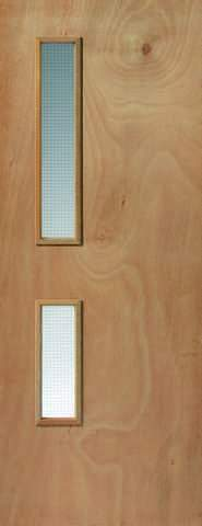 JB Kind Internal Ply Flush 2 Glazed Fire Door