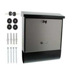 Burg-Wachter London-Set 68670 B+S Post Box in Stainless Steel