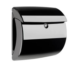 Burg-Wachter Piano 886 S Post Box in Black