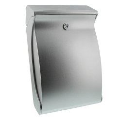 Burg-Wachter Swing 4906 Si Post Box in Silver