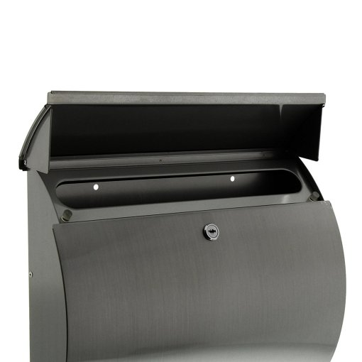 Burg-Wachter Toscana 3856 Ni Post Box in Stainless Steel