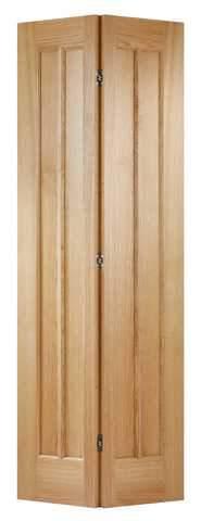 LPD Internal Bifold Unfinished Oak Lincoln Door