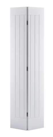 LPD Internal Bifold White Primed Mexicano Door
