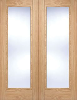 LPD Internal Prefinished Oak Vancouver with Clear Glazed Door Pair