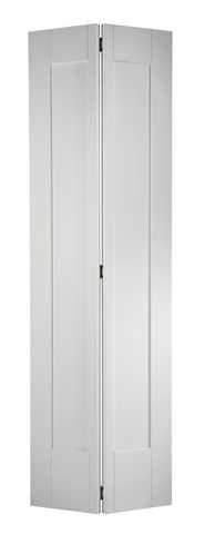 LPD Internal Bifold White Primed Shaker 1 Panel Door