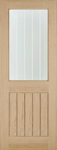 LPD Internal Oak Belize Glazed Door