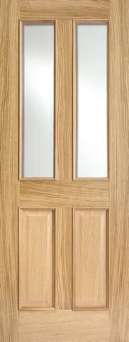 LPD Internal Oak Richmond Raised Mouldings Glazed Fire Door