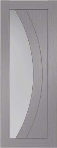 XL Joinery Internal Light Grey Pre-Finished Salerno With Clear Glass Door