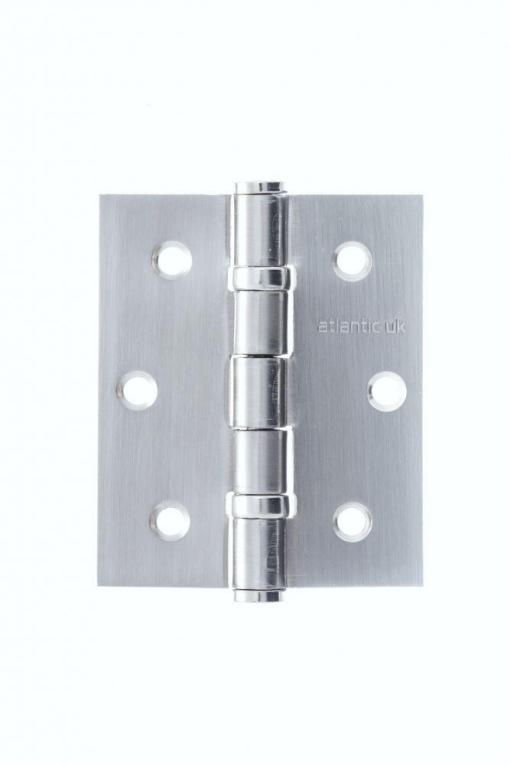 "Atlantic Handles 3"" x 2.5"" x 2.5mm Ball Bearing Pair of Hinges in a Satin Chrome Finish"