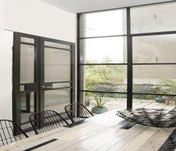 Weekamp Doors Internal Industrial 5 Panel Glazed Black Door with 80mm Stiles