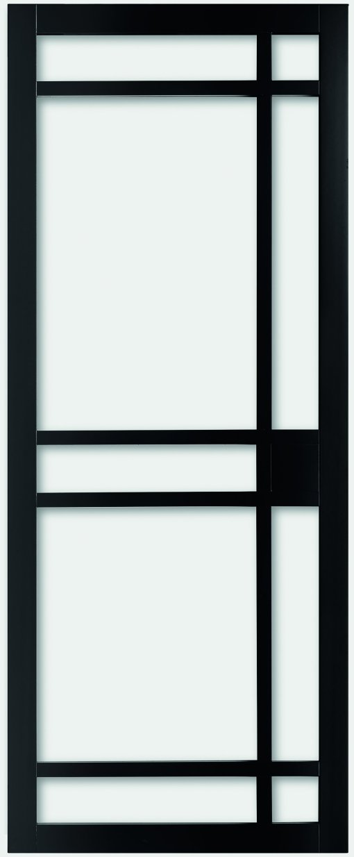 Weekamp Doors Internal Industrial 8 Panel Glazed Black Door with 80mm Stiles