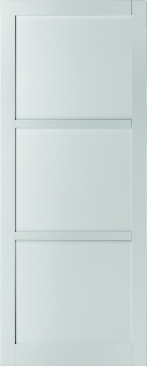 Weekamp Doors Internal Industrial Style 3 Panel White Door with 95mm Stiles