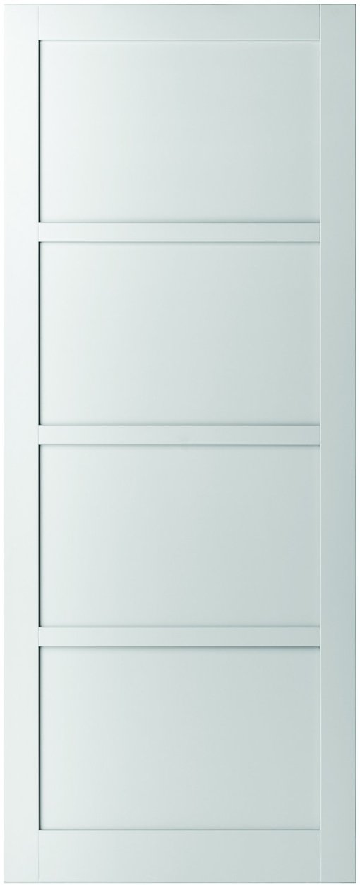 Weekamp Doors Internal Industrial Style 4 Panel White Door with 95mm Stiles