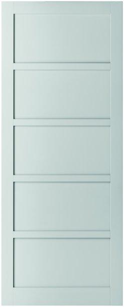 Weekamp Doors Internal Industrial Style 5 Panel White Door with 95mm Stiles