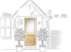 XL Joinery External 2XG Single Glazed Pine Door
