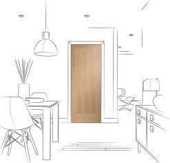 XL Joinery Internal Pre-Finished Oak Varese Door