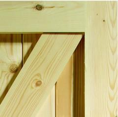XL Joinery Framed, Ledged and Braced Pine Gate / Shed Door