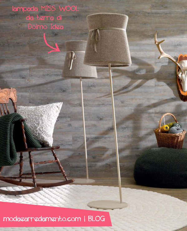 lampada-miss-wool-doimo-idea esempio di arredo stile montagna