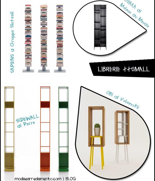 Librerie piccole, dimensioni ridotte, grandi capacità.