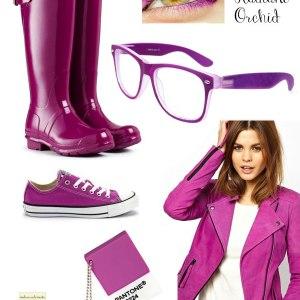Pantone Radiant Orchid 18-3224 calzature e moda.