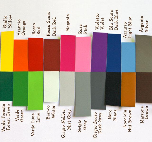 Evergreen orange immagine dei colori di adesivo utilizzato.