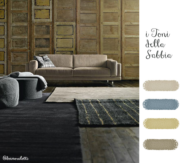 Scegliere il colore per la parete: i toni della sabbia.