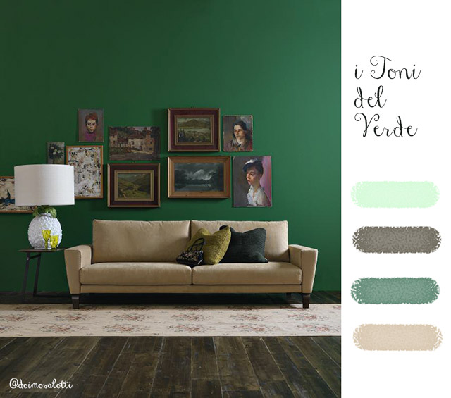 Scegliere il colore per la parete: i toni del verde.