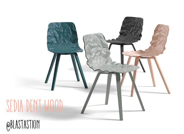 Immagine della sedia Dent wood di blastation: colori misti.