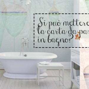 Wet system di WallandDecò: cosa fare per mettere la carta da parati in bagno, immagine esempio.