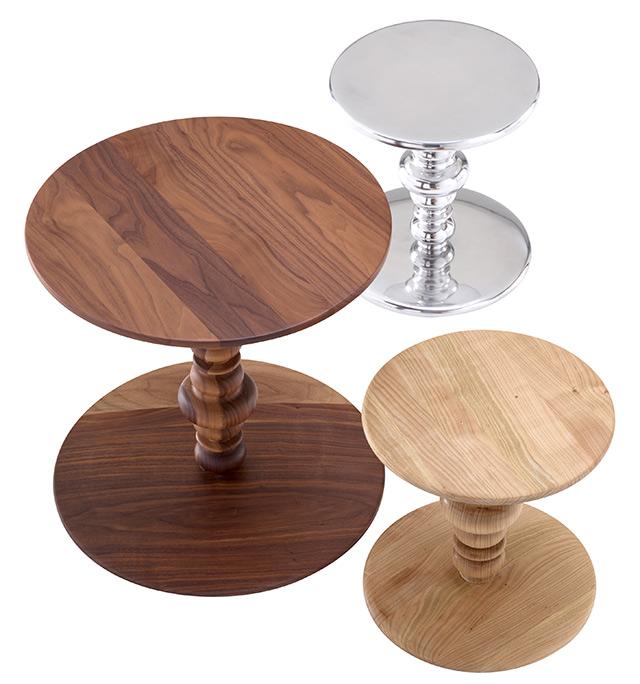 Ligne Roset novità 2015 - Tavolino Kuf legno e metallo
