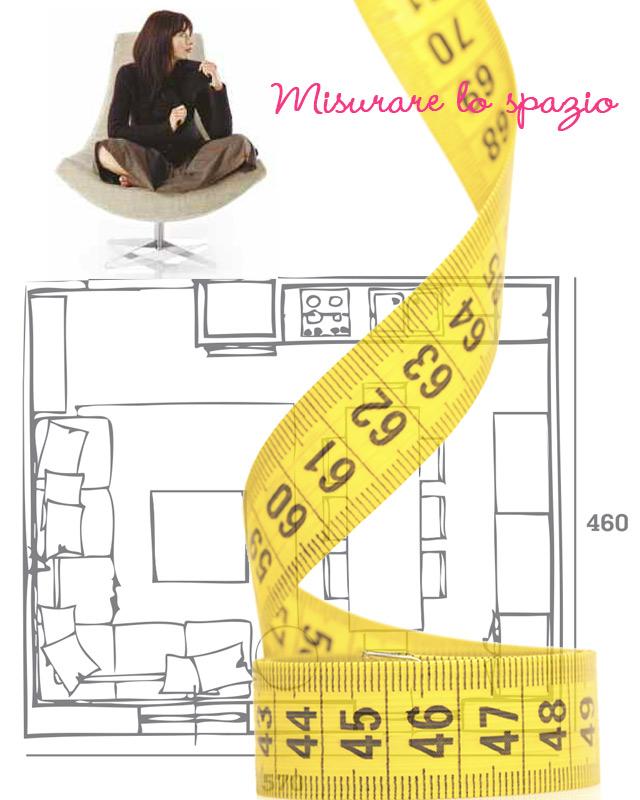 Come misurare lo spazio a disposizione per il divano.