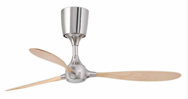 Ventilatore a soffitto senza luce - legno e metallo.