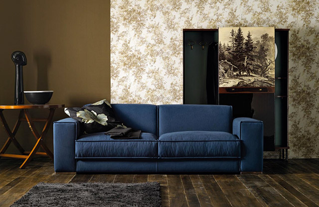 Doimo salotti divano Steven blue.