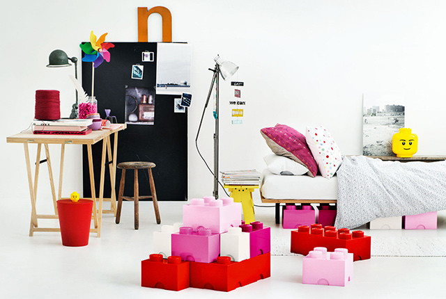 Design per bambini: lego storage.