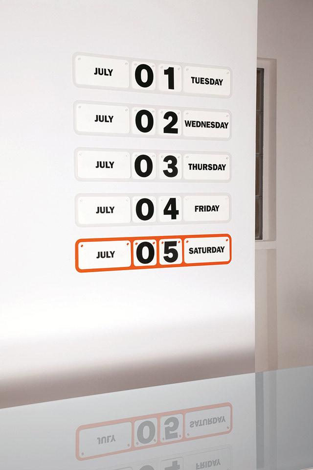 Dettaglio sunday calendario perpetuo.