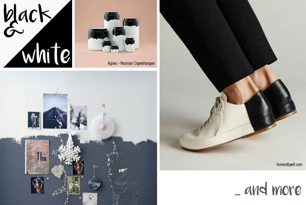 Design bicolore: black & white and much more.