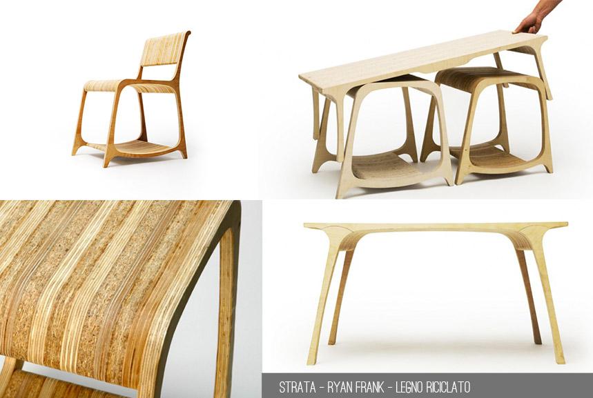 Arredo e riciclo: quattro idee di design.