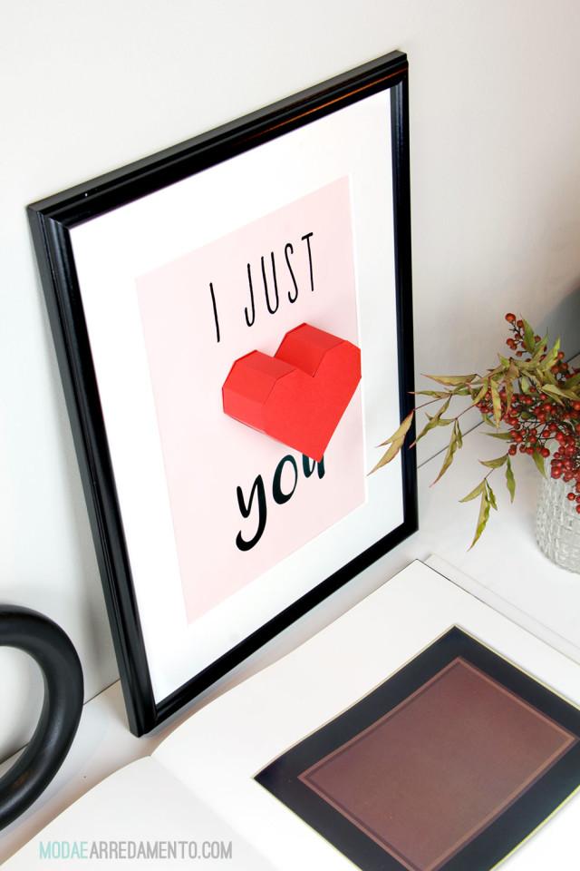 Cuore per San Valentino da stampare - grafica free.