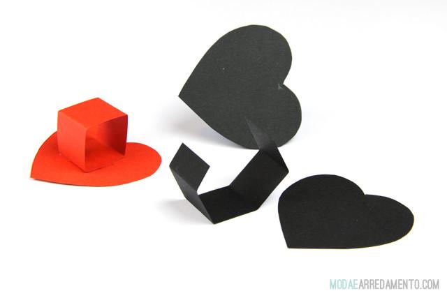 Idee per San Valentino tutorial, cuori 3d.