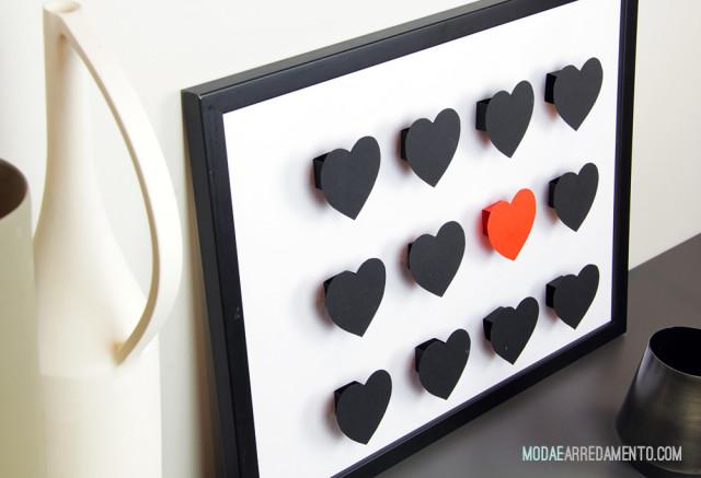 San Valentino tutorial di carta, cuori 3d.