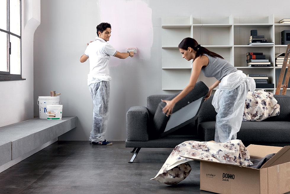 Living prima e dopo – nuovo look con il divano Under.