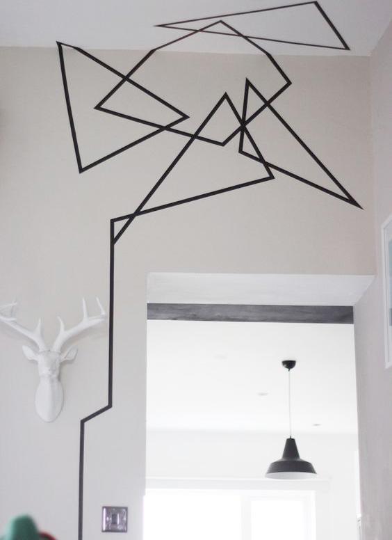 Decorare pareti nastro nero - 5
