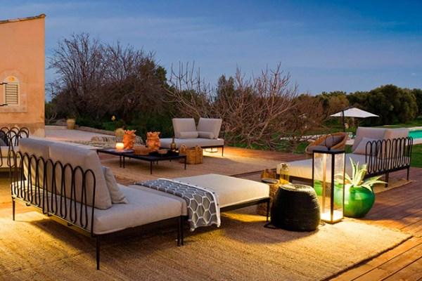 Illuminare un giardino - foto di esterno con arredi unopiù.