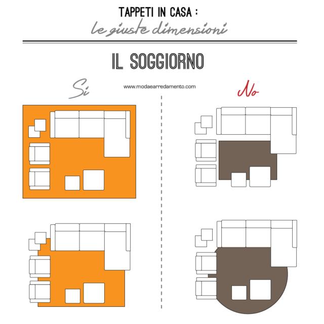 Tappeti in casa: le giuste dimensioni in soggiorno.