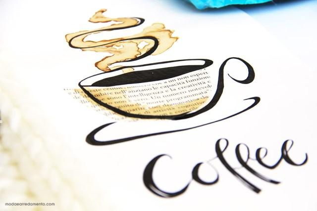 Immagine grafica di caffee realizzata a mano.