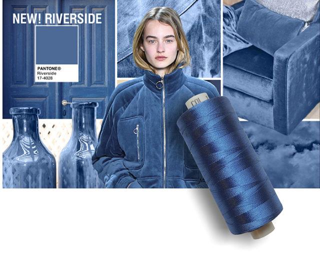 Pantone colore Azzurro blu Riverside.