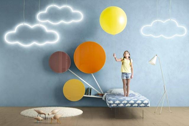 Lago Becoming Kids Letto e stanza con effetto nuvola.