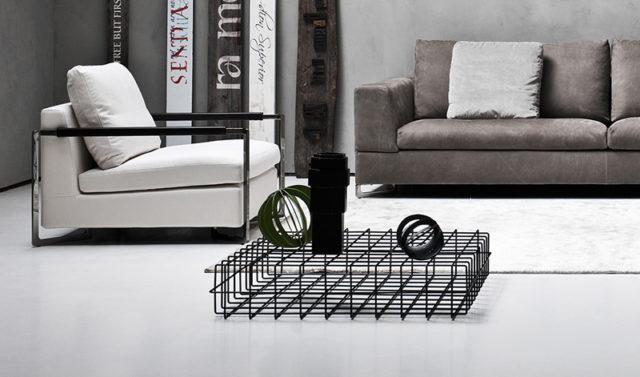 Sabaitalia tavolino filo metallico nero.
