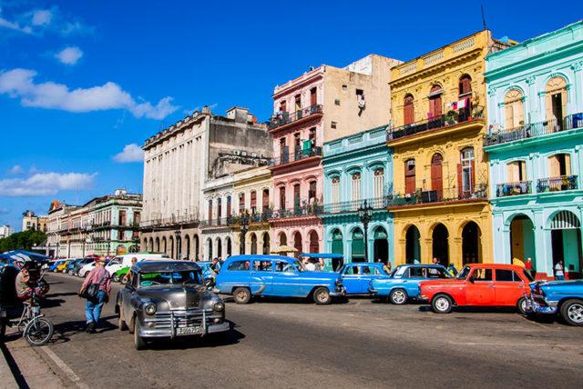Case nel centro di Havana a Cuba.